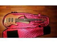 Vintage V10005B 5 String Active Bass guitar