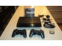 PS3 Slim 500GB + 2x Dualshock + 10 Games + Warranty CEX - GREAT CONDTION