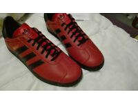 Adidas Gazelles New Red Trainers size UK 8