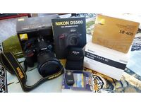 Nikon D5500 with Sigma 17-70mm F2.8-4 DC Macro + many extras