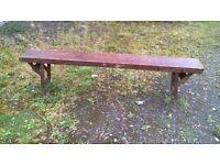 school benches 1948 x 5 wooden