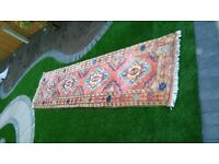 Colourful Wool Carpet Runner 310cm by 82cm with anti-slip net