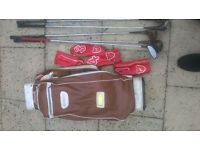2 Golf Bags and large selection of Clubs £12 the lot!