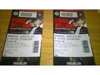 Robbie Williams Standing Tickets