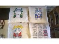 "VDubz Hand painted original Cushions 18"" x 18"""