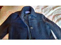 3/4 long black coat size 10 in need of tlc