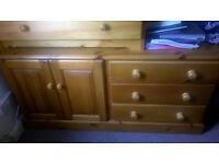 TV unit, 32 inch samsung TV and chest of drawers