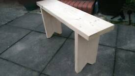 3ft wooden seating kitchen bench rustic hallway