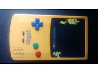 Limited edition Pikachu gameboy colour console - Battery cover missing.