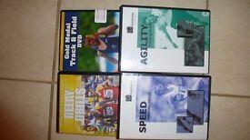 4 athletics training DVD's