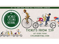 2x World Cycling Revival Festival Thursday Friday Saturday 14 15 16 June £10 for the pair ONO