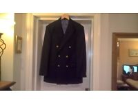 Mens/Unisex MARKS and SPENCER Pure New Wool fully silk lined Navy Blazer/Jacket