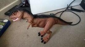 dinasaur walks and growls,toy