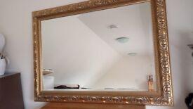 Gold Frame Mirror - Large