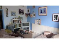 S7 Quiet secure studio flat with separate bedroom for one person, alarmed with patio/parking space.
