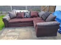 Large L shape sofa. Seats 4 to 7