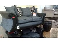 Black and Grey Fabric Suite