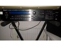 Roland super JV-1080 synthesizer rack unit