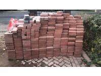Red paving blocks