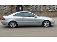 MERCEDES CLK 270 CDI COUPE DIESEL POLAR SILVER FROM £2600 NOW £1900