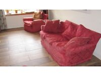 Three-piece Peter Jones, Sofa and chairs