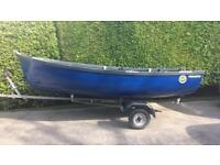 12ft Fibreglass fishing boat, ideal for lakes and inshore coastal waters