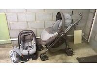 Used Mamas & Papas Pliko Pramette Baby/Child Travel System