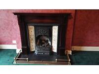 Mahogany Gas Fireplace