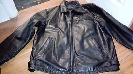 Black Leather Jacket/coat - gents size 40