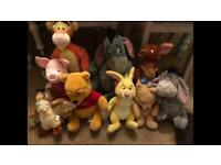 Winnie the Pooh and friends, cuddly toys