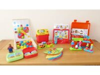 5 toys including: Bristle Blocks, Fisher-Price & ELC