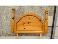 Pine headboard for a single bed
