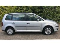 DIESEL VOLKSWAGEN TOURAN SPORT TDI 1.9L (2008) 5 door 7 seater year mot, cheap tax