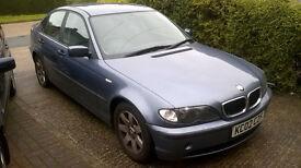 BMW 318 SE 2002 Blue Saloon