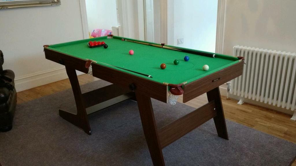 Hy pro 6ft folding snooker pool table in walton for 12 foot snooker table for sale