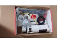 new unused chrome button twin flush cistern kit