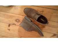 Mens suede tan boots (topman) nearly new, size 9