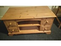 Pine TV Cabinet for Sale. Good Condition.