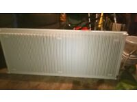 single radiator, 160cm or approx. five foot, white,good condition