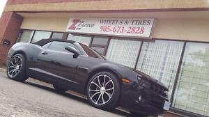 20 Inch Staggered Rim Tire Package chevy camaro ( 4 Rim + 4 Tires + 4 Sensors ) $1650 + Tax  @Zracing 905 673 2828