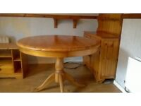 BARGAIN!!! Solid pine kitchen dresser with matching extendable table, TV unit, mirror , settee