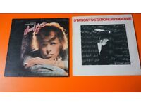 2 X DAVID BOWIE ORIGINAL VINYL LP'S YOUNG AMERICANS STATION TO STATION
