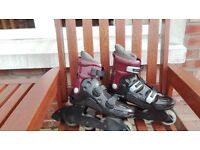 SKAIGHT zombie in-line skates and safety set Size 5