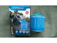 Camping burner stove and butane propane gas canister