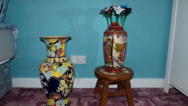 Two vases and mirror