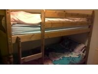Hardly Used Wooden Bunk Bed With Or Without Mattresses