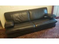Leather sofa thick stitched