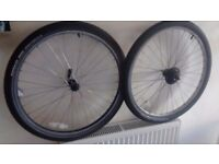 26by1.75 front q,r and 6speed back wheel