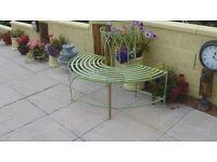 Alium™ Trentino Steel Circular Garden Tree Seat - Half Circular