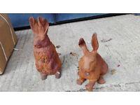 Cast Iron Hares/Rabbits